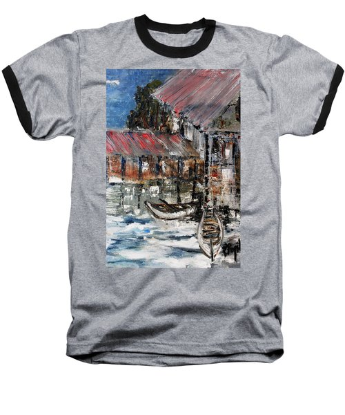 Baseball T-Shirt featuring the painting Resting by Evelina Popilian