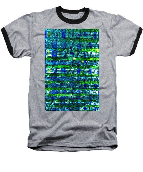 Baseball T-Shirt featuring the mixed media Rice Harvest by Terence Morrissey