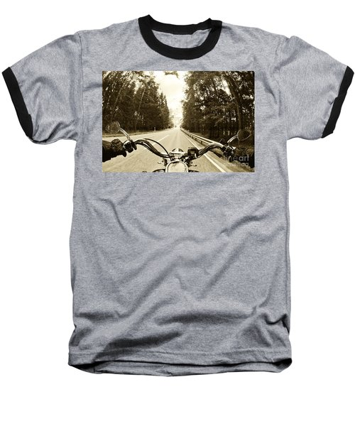 Riders Eye Veiw In Sepia Baseball T-Shirt