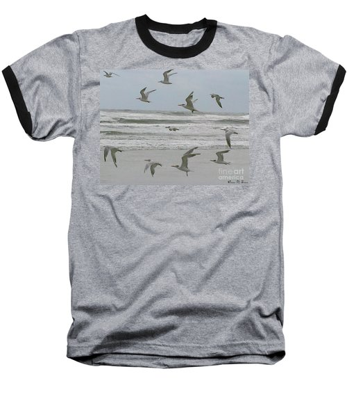 Baseball T-Shirt featuring the photograph Riding The Wind by Donna Brown