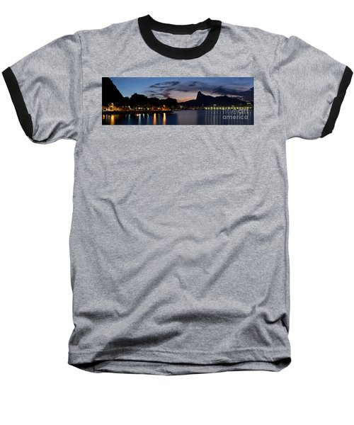 Rio Skyline From Urca Baseball T-Shirt