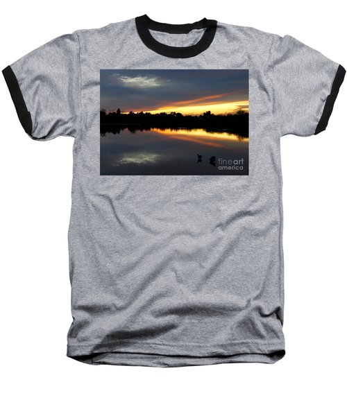 Baseball T-Shirt featuring the photograph Riparian Sunset by Tam Ryan