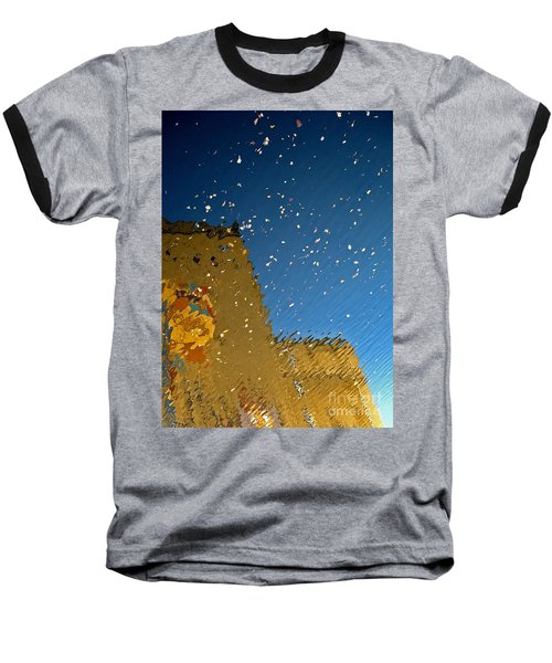 Baseball T-Shirt featuring the photograph River Crossing Border Crossing by Andy Prendy