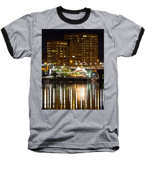 River Front At Night Baseball T-Shirt