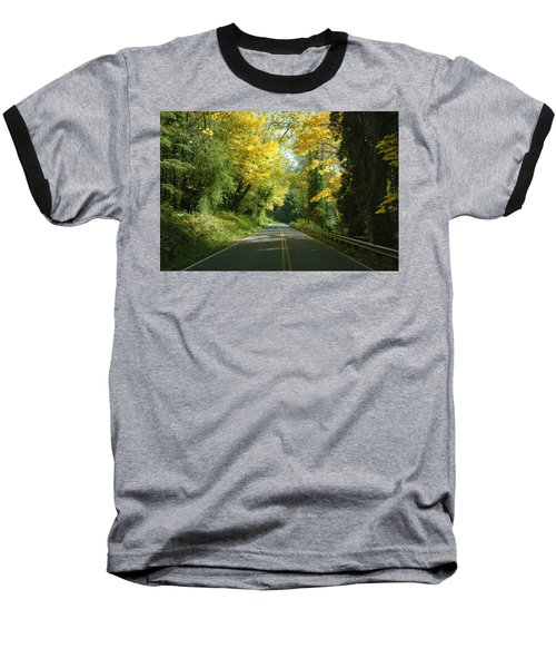 Road Through Autumn Baseball T-Shirt