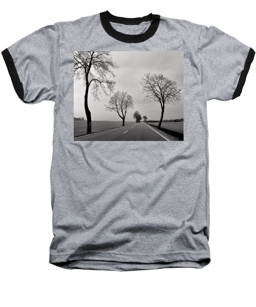 Road Through Windy Fields Baseball T-Shirt