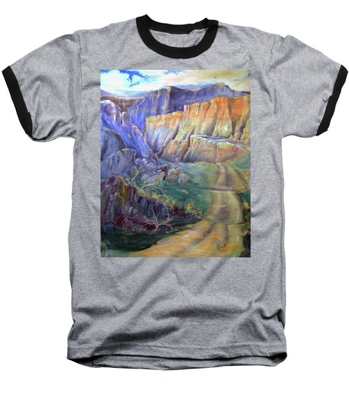 Baseball T-Shirt featuring the painting Road To Rainbow Gulch by Gertrude Palmer