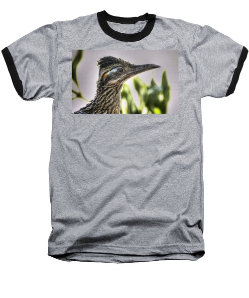 Roadrunner Portrait  Baseball T-Shirt by Saija  Lehtonen