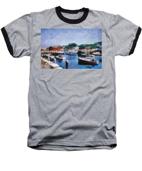 Rockport Maine Harbor Baseball T-Shirt