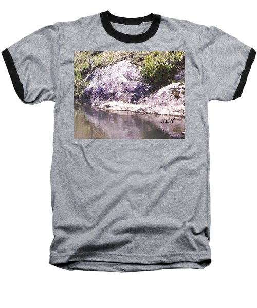 Rocks On The Bank Baseball T-Shirt