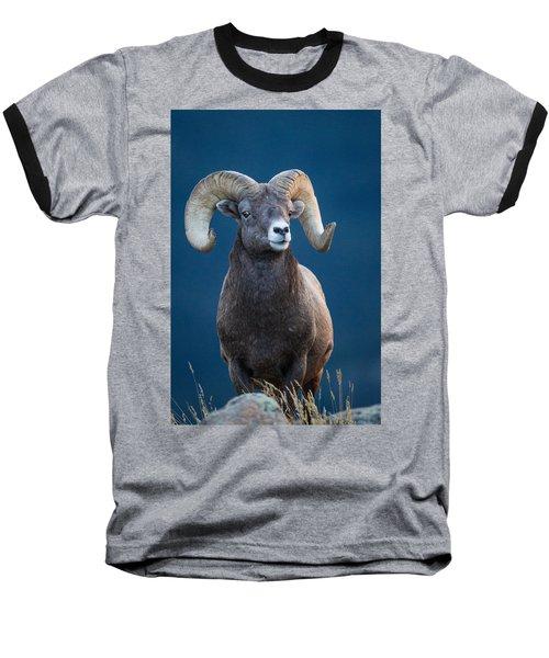 Rocky Mountain Big Horn Baseball T-Shirt by Ronald Lutz