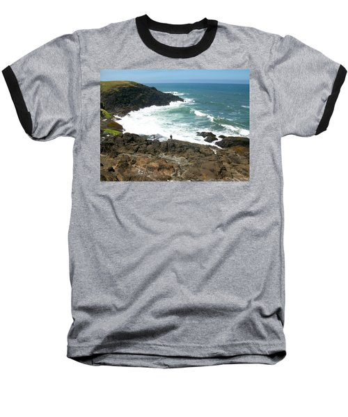Rocky Ocean Coast Baseball T-Shirt