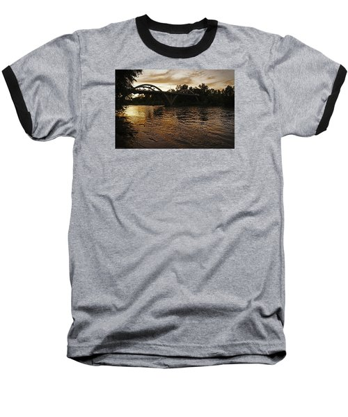 Rogue River Sunset Baseball T-Shirt by Mick Anderson