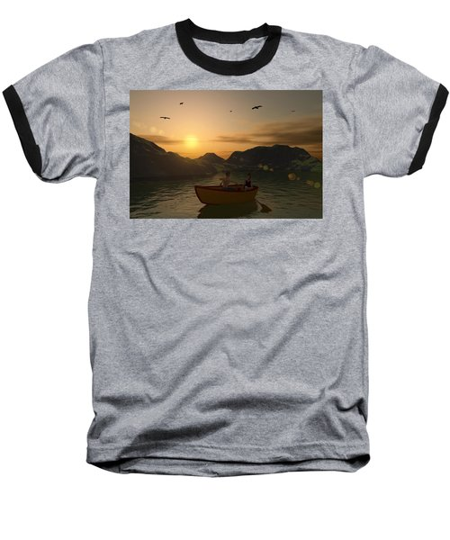 Romance On The Lake Baseball T-Shirt