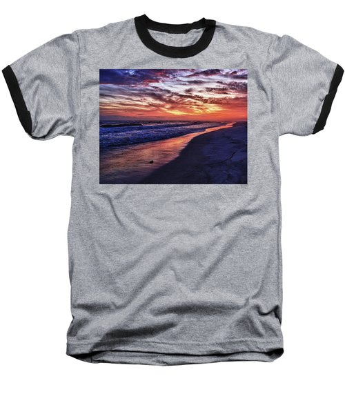 Romar Beach Sunset Baseball T-Shirt