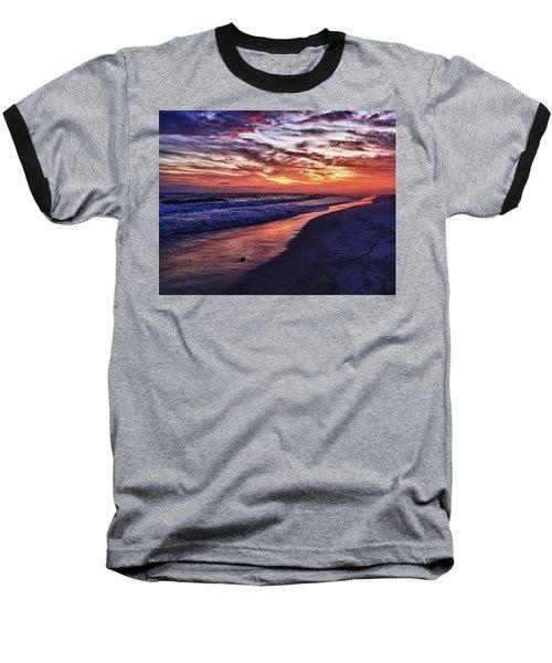 Romar Beach Sunset Baseball T-Shirt