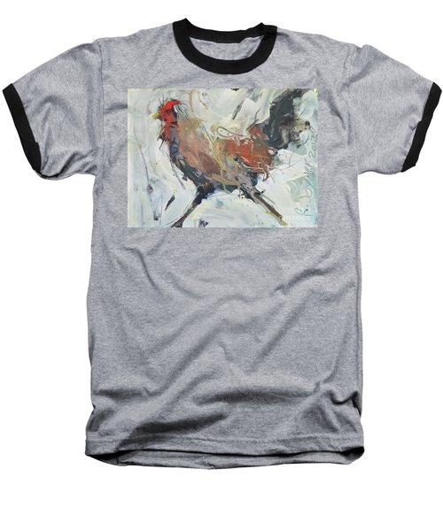 Rooster Art  Baseball T-Shirt by Robert Joyner