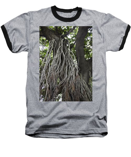 Baseball T-Shirt featuring the photograph Roots From A Large Tree Inside Jallianwala Bagh by Ashish Agarwal