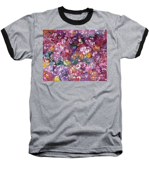 Baseball T-Shirt featuring the painting Rose Festival by Alys Caviness-Gober