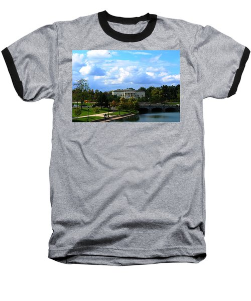 Baseball T-Shirt featuring the photograph Rose Garden And Hoyt Lake by Michael Frank Jr
