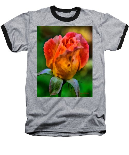 Baseball T-Shirt featuring the painting Rose by Lynne Jenkins
