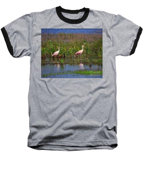Roseate Spoonbills Baseball T-Shirt