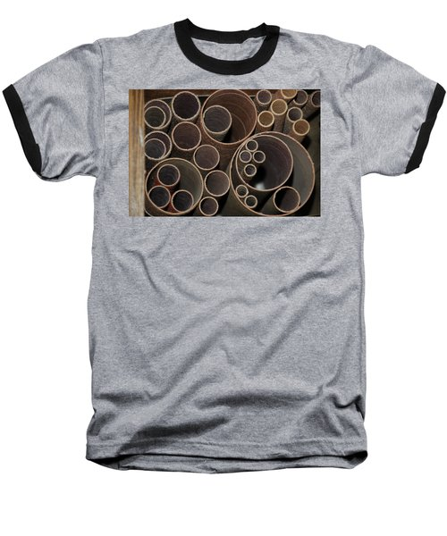Round Sandpaper Baseball T-Shirt