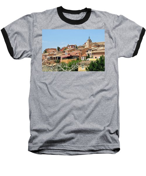 Baseball T-Shirt featuring the photograph Roussillon In Provence by Carla Parris