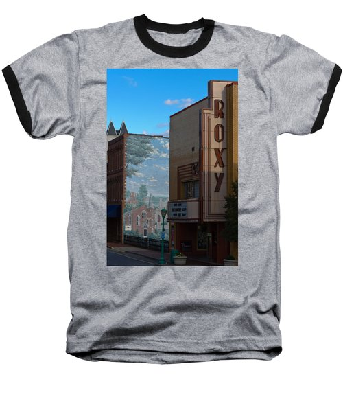 Roxy Theater And Mural Baseball T-Shirt