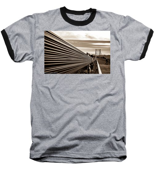 Royal Gorge Bridge Baseball T-Shirt by Shannon Harrington