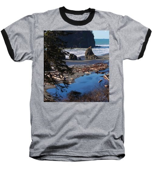Baseball T-Shirt featuring the photograph Ruby Beach IIi by Jeanette C Landstrom