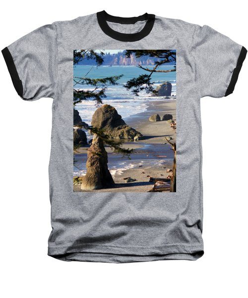 Baseball T-Shirt featuring the photograph Ruby Beach Iv by Jeanette C Landstrom