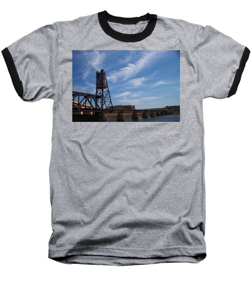 Baseball T-Shirt featuring the photograph Rusted Bridge by Stephanie Nuttall