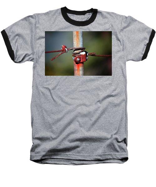 Rusted Fence Post 2 Baseball T-Shirt