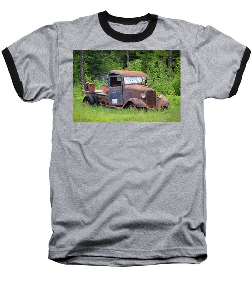 Baseball T-Shirt featuring the photograph Rusty Chevy by Steve McKinzie