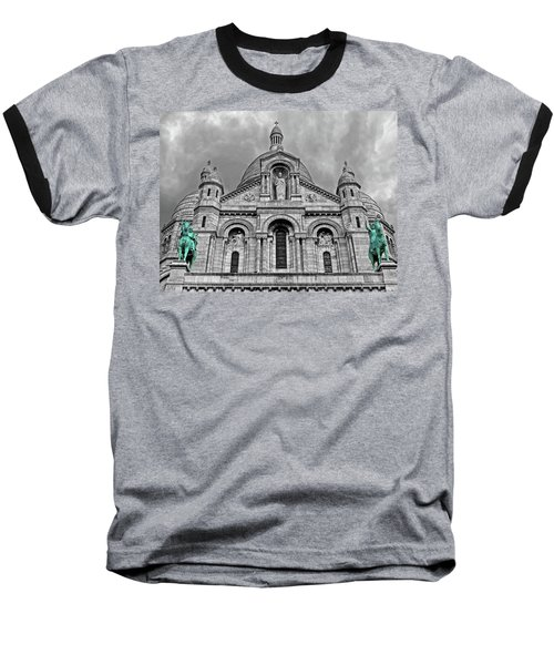 Baseball T-Shirt featuring the photograph Sacre Coeur Montmartre Paris by Dave Mills