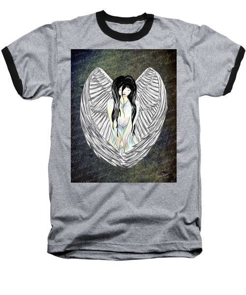 Sad Angel Baseball T-Shirt