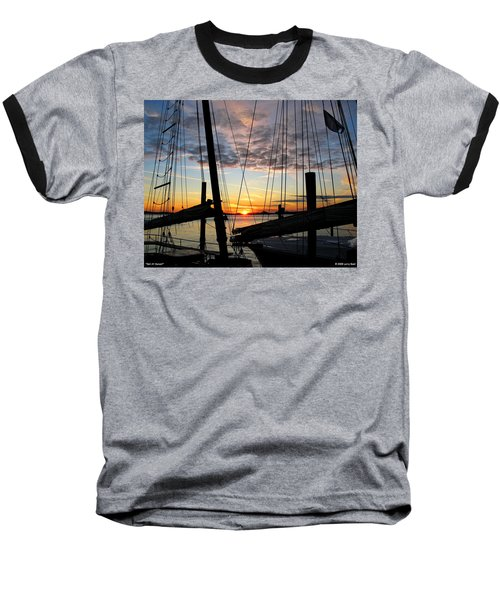 Sail At Sunset Baseball T-Shirt