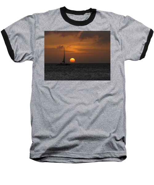 Baseball T-Shirt featuring the photograph Sailing Away by David Gleeson