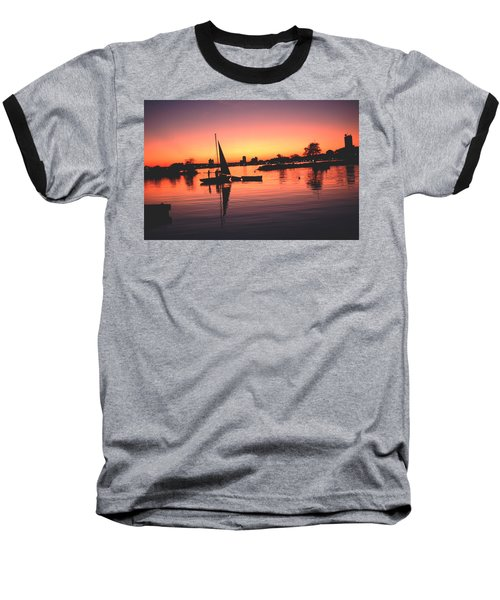 Baseball T-Shirt featuring the photograph Sailing End Of The Day Backbay  Boston by Tom Wurl