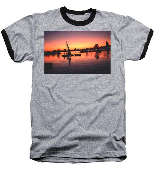 Sailing End Of The Day Backbay  Boston Baseball T-Shirt by Tom Wurl