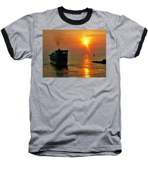 Sailing Into The Sunset Baseball T-Shirt