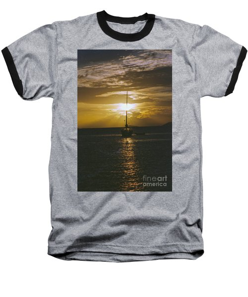 Sailing Sunset Baseball T-Shirt