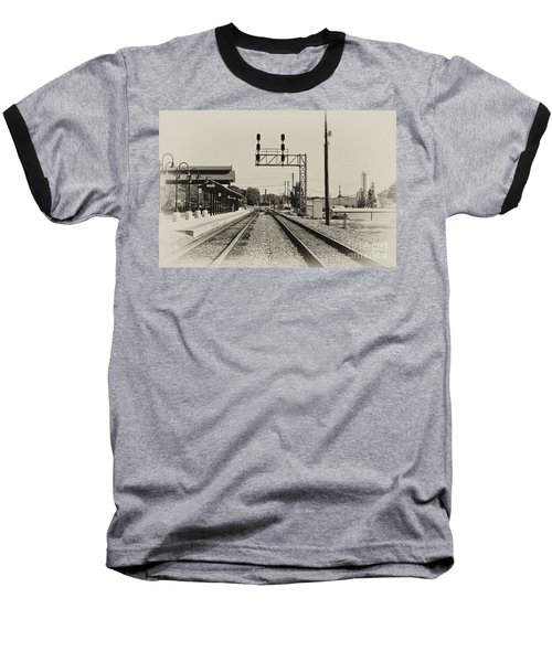 Salisbury North Carolina Depot Baseball T-Shirt by Wilma  Birdwell