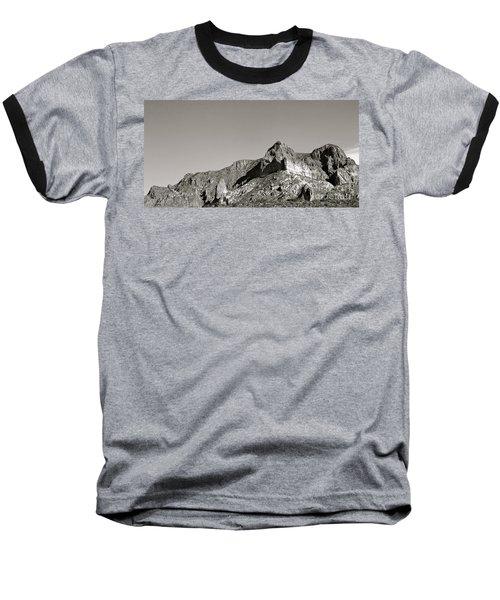 Salt River Black And White Baseball T-Shirt by Pamela Walrath