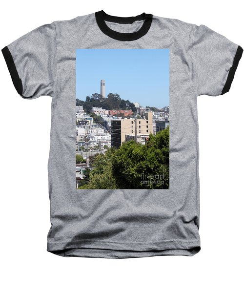 San Francisco Coit Tower Baseball T-Shirt