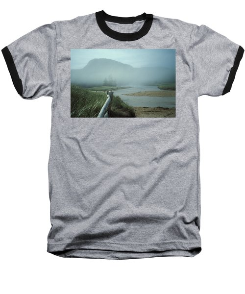 Sand Beach Fog Baseball T-Shirt by Brent L Ander