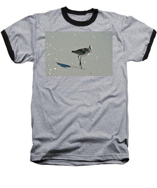 Sandpiper 3 Baseball T-Shirt by Joe Faherty