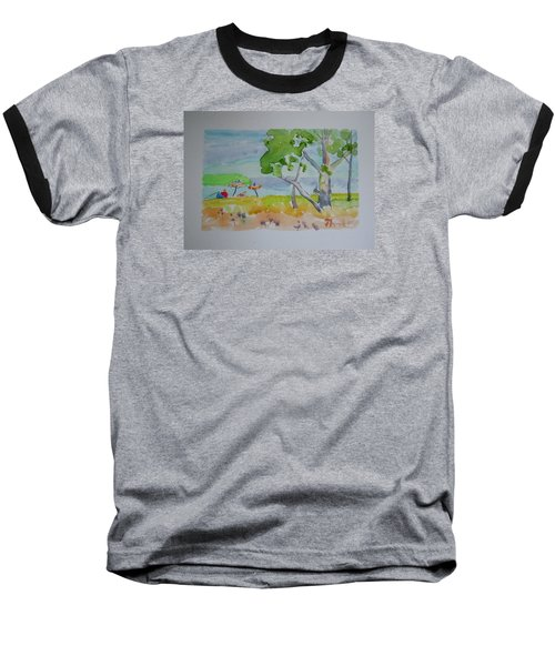 Baseball T-Shirt featuring the painting Sandpoint Bathers by Francine Frank