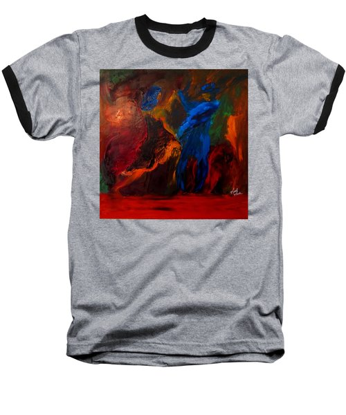 Baseball T-Shirt featuring the painting Saticha by Keith Thue